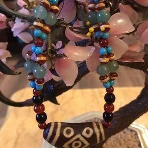 Vintage Asian multi stone necklace